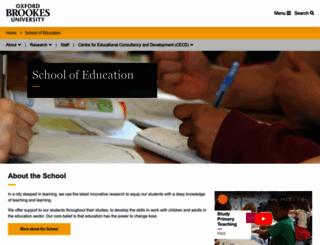 education.brookes.ac.uk screenshot