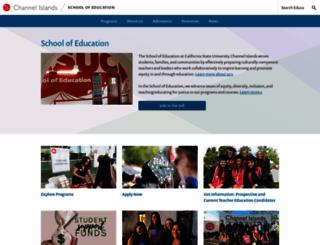 education.csuci.edu screenshot