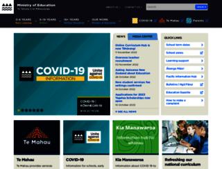 education.govt.nz screenshot