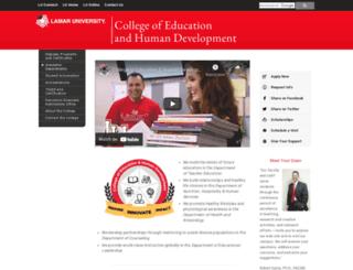education.lamar.edu screenshot