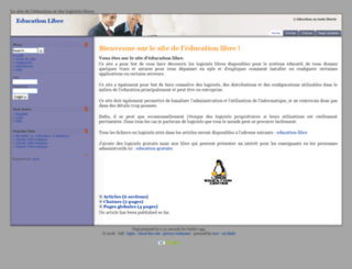 education.libre.free.fr screenshot