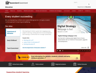 education.qld.gov.au screenshot