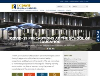 education.ucdavis.edu screenshot