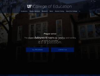 education.ufl.edu screenshot