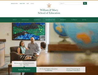 education.wm.edu screenshot