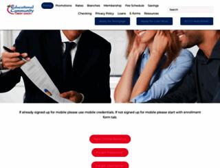 educationalccu.org screenshot