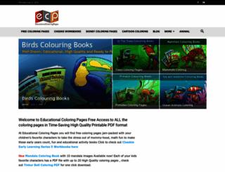 educationalcoloringpages.com screenshot