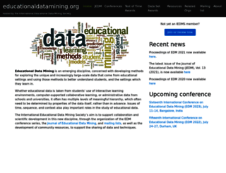 educationaldatamining.org screenshot