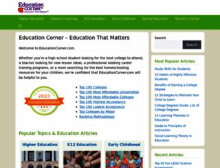 educationcorner.com screenshot