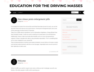 educationforthedrivingmasses.com screenshot