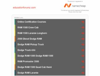 educationforumz.com screenshot