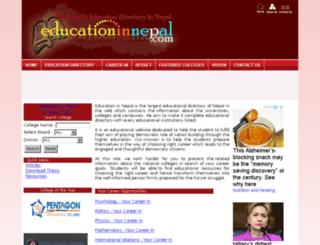 educationinnepal.com screenshot