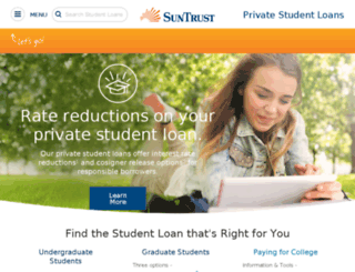 educationloan.suntrust.com screenshot