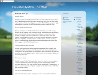 educationmattersthemost.blogspot.co.uk screenshot