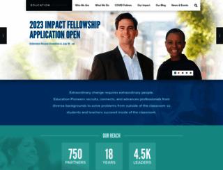educationpioneers.org screenshot