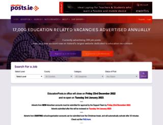 educationposts.ie screenshot