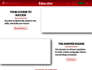 educator.com screenshot