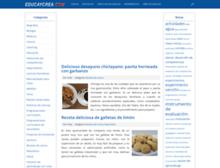 educaycrea.com screenshot