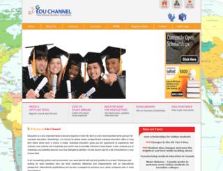 educhannel.co.in screenshot