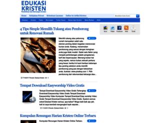 edukasikristen.blogspot.com screenshot