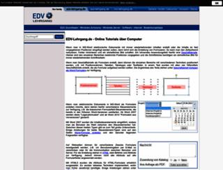 edv-lehrgang.de screenshot