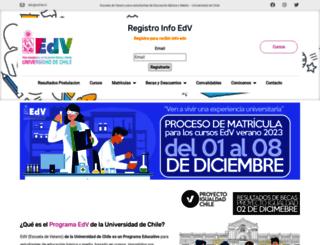 edv.uchile.cl screenshot