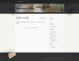 edward2011.wordpress.com screenshot