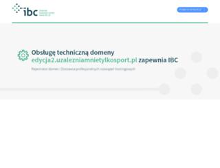 edycja2.uzalezniamnietylkosport.pl screenshot