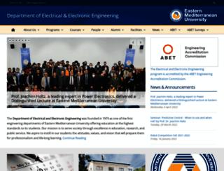 ee.emu.edu.tr screenshot