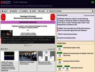ee.hacettepe.edu.tr screenshot