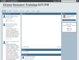 ee399kfupm.ning.com screenshot