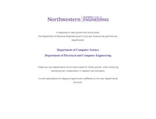 eecs.northwestern.edu screenshot