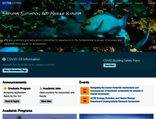 eemb.ucsb.edu screenshot