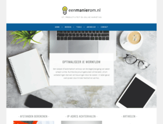 eenmanierom.nl screenshot