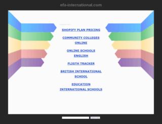 efa-international.com screenshot
