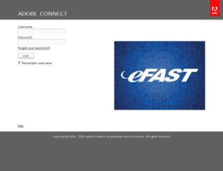 efast.adobeconnect.com screenshot
