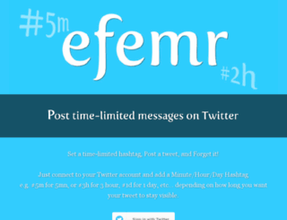 efemr.com screenshot