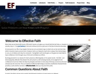 effectivefaith.co.uk screenshot