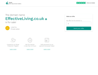 effectiveliving.co.uk screenshot
