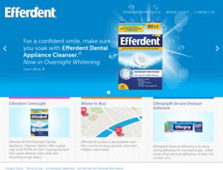efferdent.com screenshot