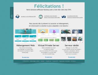 efficace-factory.com screenshot