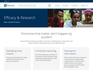 efficacy.pearson.com screenshot
