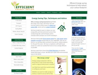 efficientenergysaving.co.uk screenshot