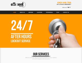 efficientlockandkey.com.au screenshot