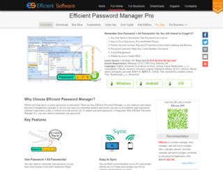 efficientpasswordmanager.com screenshot