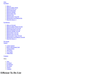 efficienttodolist.com screenshot