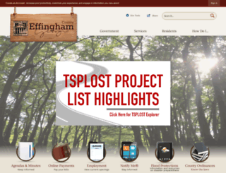 effinghamcounty.org screenshot