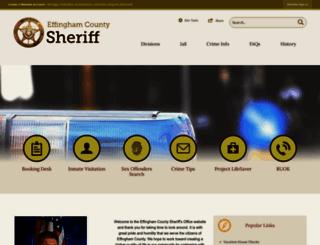effinghamsheriff.org screenshot