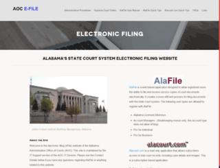 efile.alacourt.gov screenshot