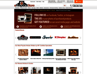 efireplacestore.com screenshot